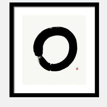 Enso - Clinging To Nothing, Framed Enso Zen Print