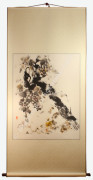 Contemporary Grapevine Painting: The Winemaker in Abstract Brush Strokes and Japanese Watercolors