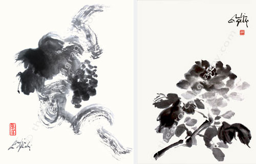 Sumi Prints, Japanese Watercolor Prints, Ink Brush Painting Prints, Chinese Watercolors Prints