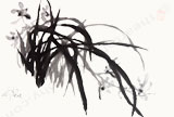Brush Painting- Orchid Scent Pervading The Air- Print