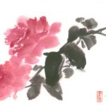 Roses Painted With Japanese Watercolor Cakes