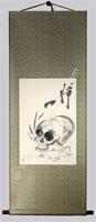 Zen Skull Painting Scroll