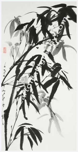 Bamboo after the Rain, A Refreshing Spirit, Contemporary Zen Sumi-E