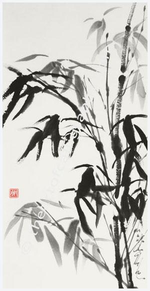 Bamboo after the Rain, A Gentle Spirit, Contemporary Zen Sumi-E