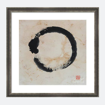 Buy Zen Enso circle print