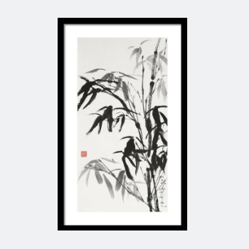 Bamboo After Rain, A Gentle Spirit - Buy Bamboo Sumi-E Print