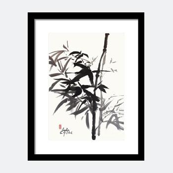 Bamboo Sumi Painting