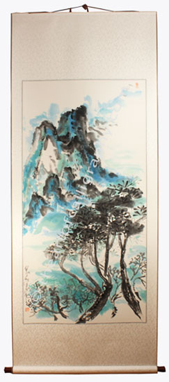 Mediterranean Seascape Art Work In Japanese Watercolors
