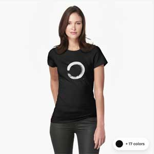 Zen Circle T-shirt With Artistic Zen Enso Calligraphy