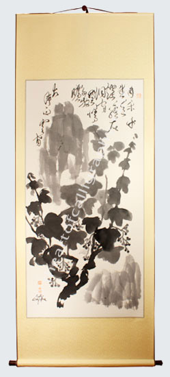 Grapevine Painting On Hanging Scroll - Grapevine PaintingFor Sale
