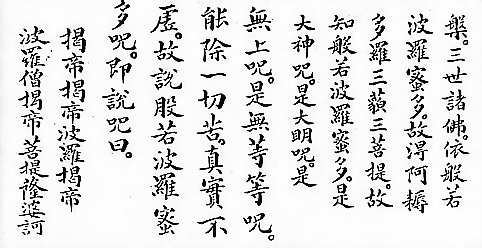 Heart Sutra Kanji For Sutra Copying
