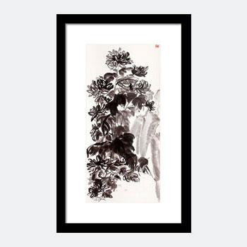 Mums In Zen Garden. Buy This Zen Ink Painting