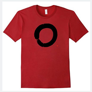 Zen Enso T-shirt With Vigorous Hand-brushed Enso Circle